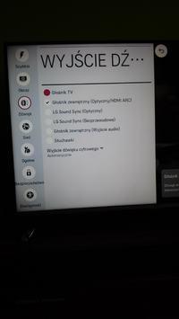Podłącznie tv LG do kina domowego LG