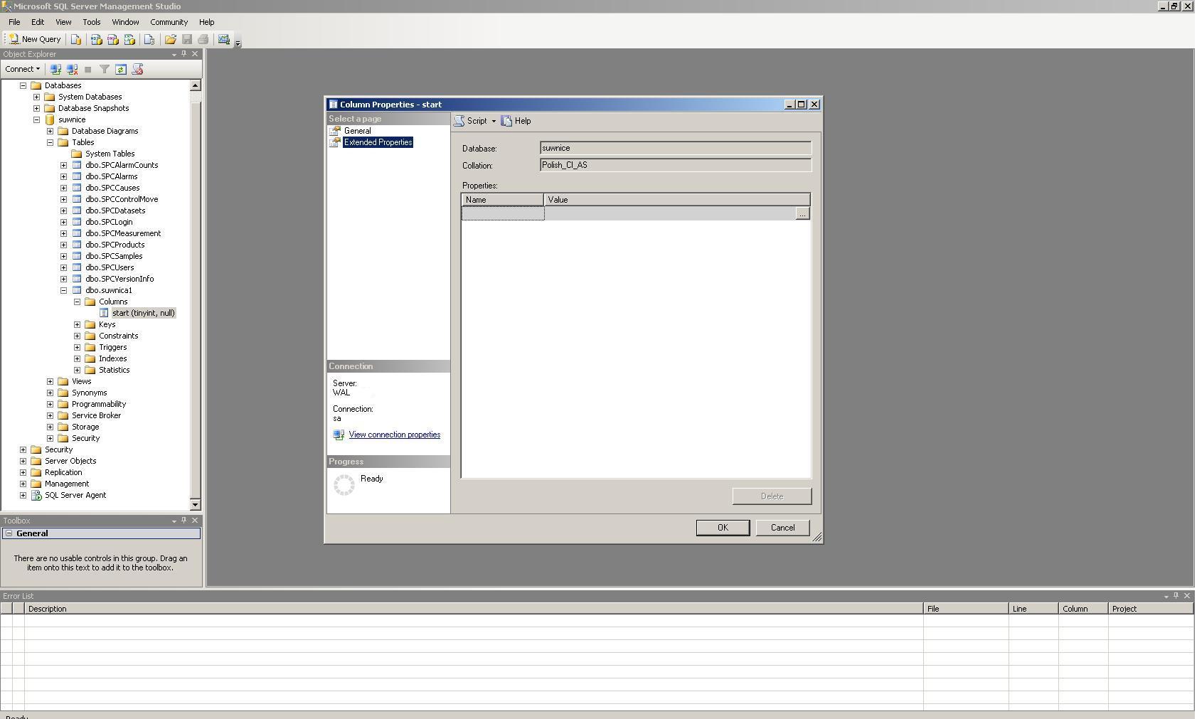 Zapis danych do tabeli MSSQL'a z Intouch