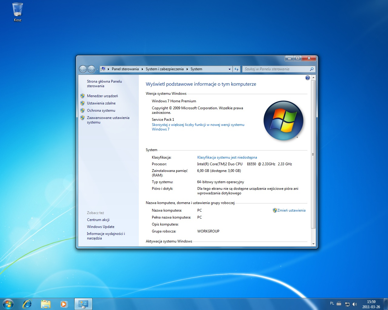 Brak pe�nej dost�pno�ci pami�ci RAM w win7 x64 [6GB/3,5GB]