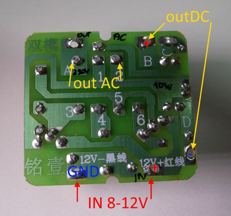 Converter module 12VDC to 230V, test, opinion