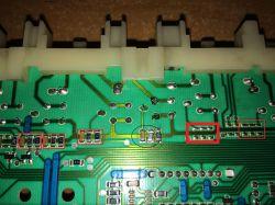 Amica PA5580B421 - uszkodzony pad podczas wymiany rezystora