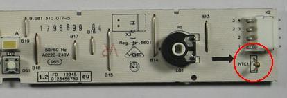 Bosch KGV3105 Czujnik NTC
