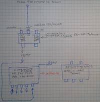 Wzmocnienie sygna�u z anteny przy trzech odbiornikach