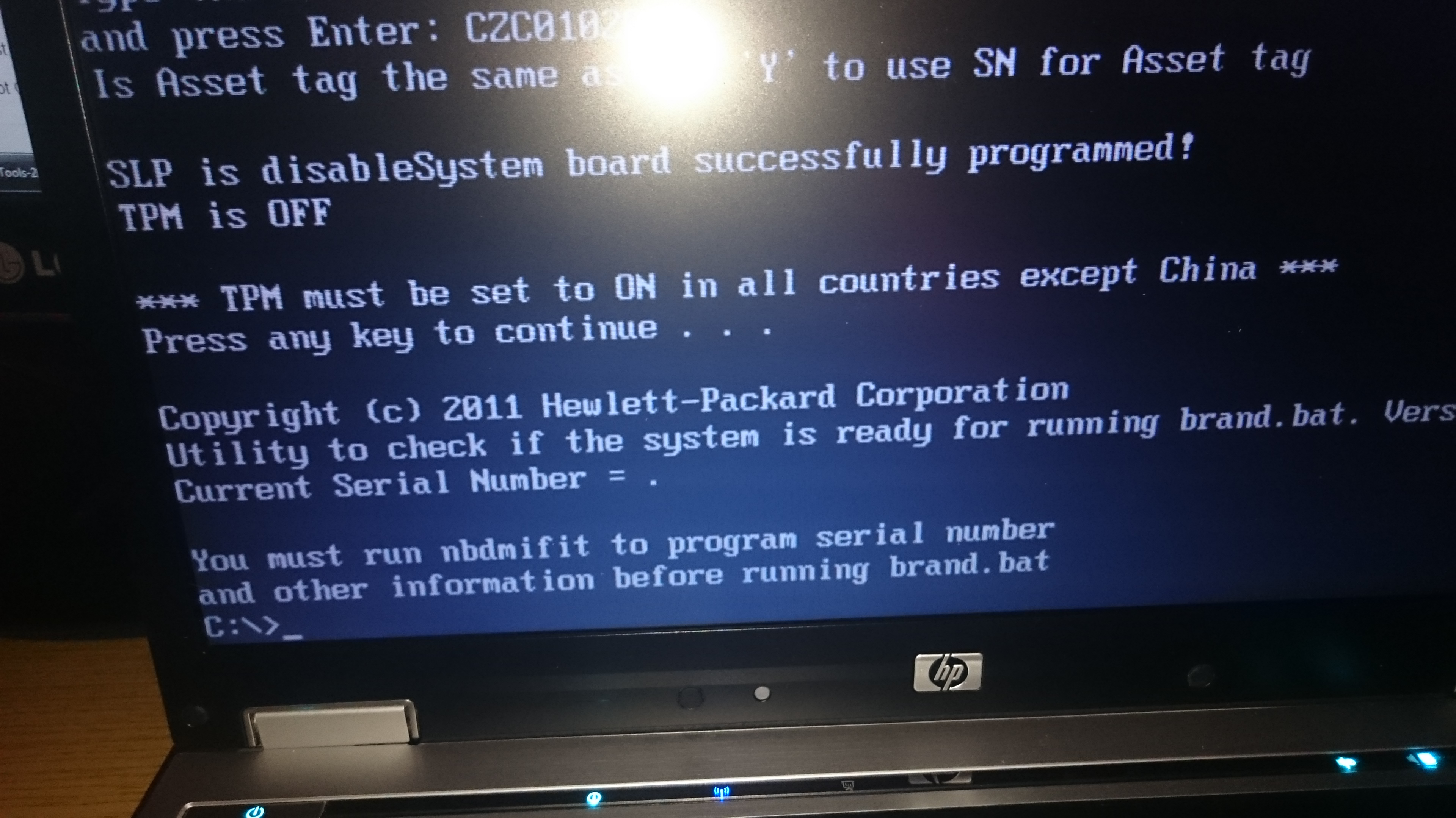 hp computer serial number check