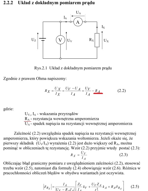 Rezystancja wewn�trzna amperomierza Metex MXD-4660A