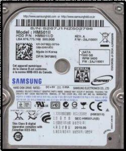 Odzyskanie danych z uszkodzonego Samsung S2 portable 500GB