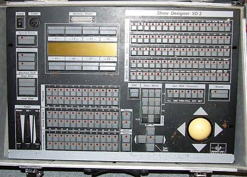 GLP ShowDesigner SD2 DMX kontroler włącza się, ale staje na booting system