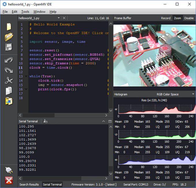 OpenMV Cam H7 - system widzenia maszynowego wykorzystujący MicroPythona