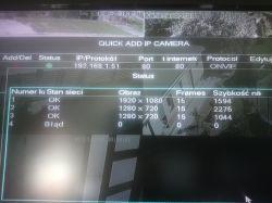 Brak widocznego strumienia z kamery Overmax 4.3