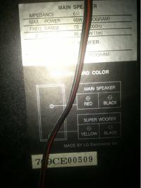 LG FFH-1000 - Podłączenie głośników do wieży.