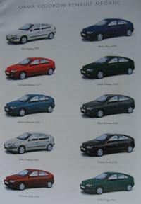 Renault megane, kod koloru lakieru, gdzie jest?