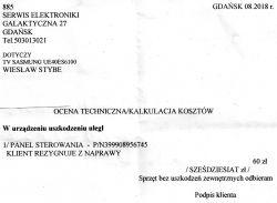 TV Samsung UE40ES6100 Poziomy pas