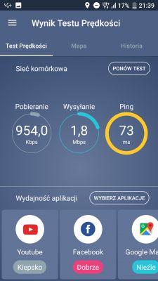 Zakopane LTE plus niska prędkość pobierania