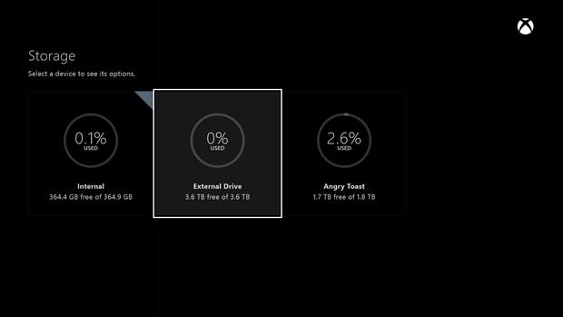 Obs�uga zewn�trznych dysk�w twardych na Xbox One dzi�ki aktualizacji firmware
