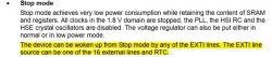 [STM32F030] Wyjście z trybu STOP MODE