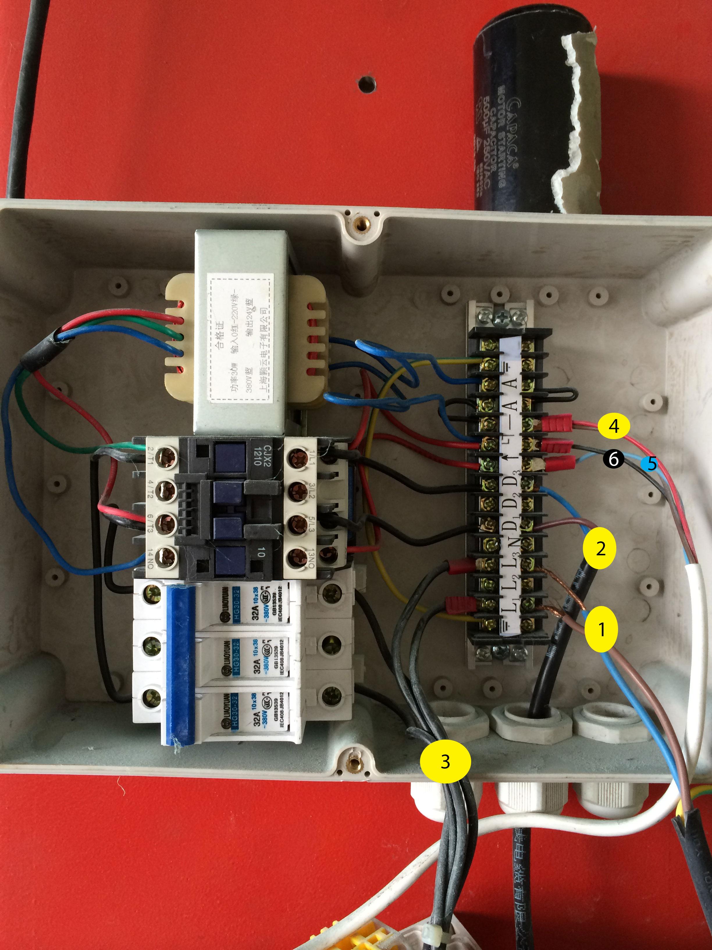 One post lift - jak podlaczyc hydrauliczny motor