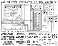 Zespół prostownikowy eltron B12/2,5/06072