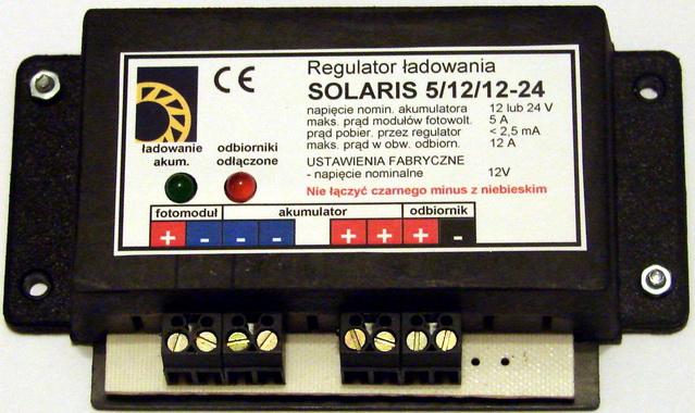 regulator �adowania, z od��czaniem dop�ywu pr�du do akumulatora.