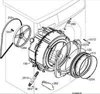 Pralka Elektrolux - EWS 10470W - wymiana łożysk