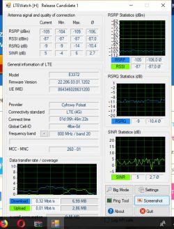 Modem huawei 3372s-150 +dlink dwr 116 traci zasięg