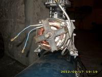 silnik w chińskim kompresorze 50l