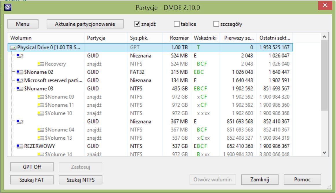 NP550P7C-T02.PL po aktualizacji Win 8 do Win 8.1 uszkodzona tablica partycji