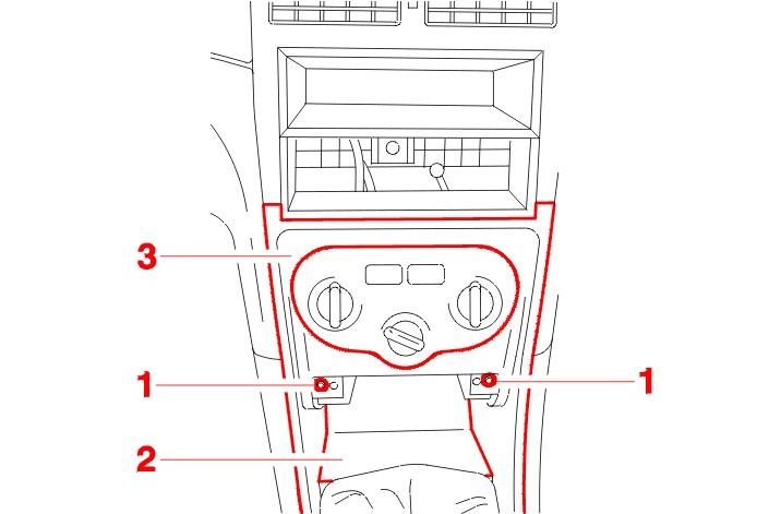 Peugeot 307 o�wietlenie panelu wentylacji.