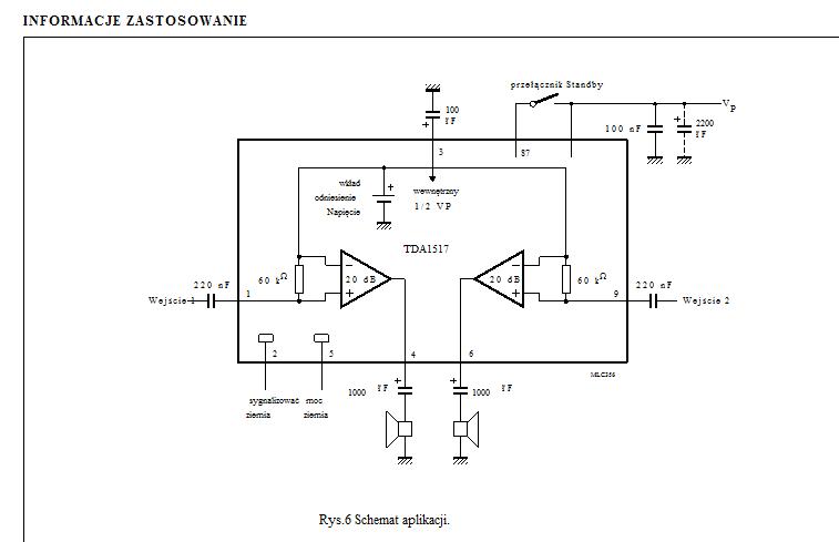 Wzmacniacz słuchawkowy TDA1517P.