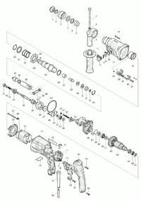Makita HR 2470 - Naprawa wyrobionego sprzęgła