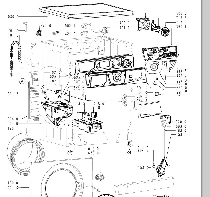Whirpool AWM 6091 - Jak wymieni� fartuch