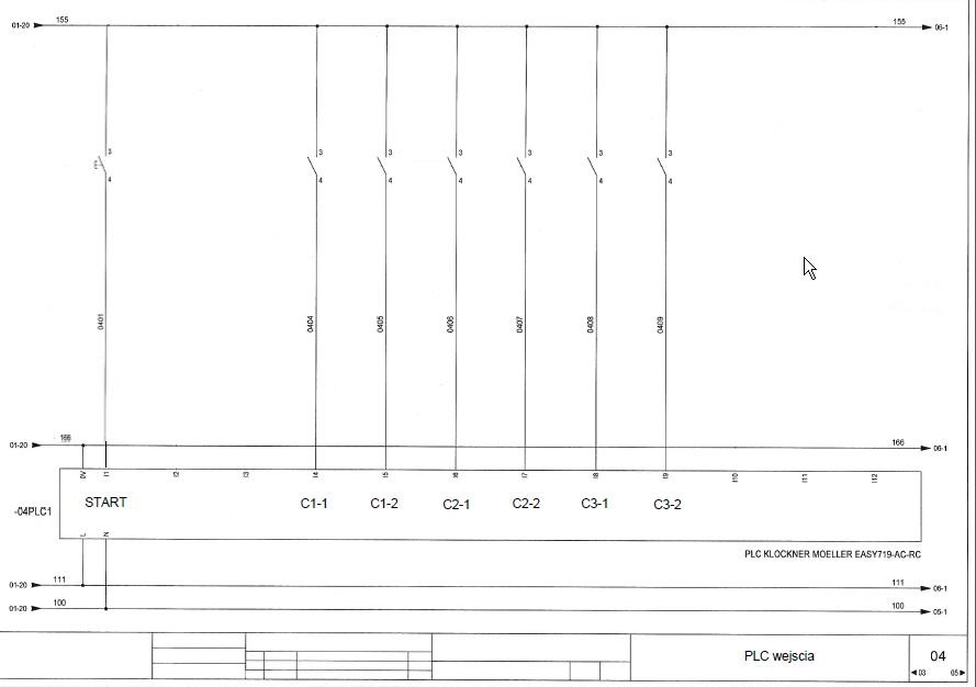 Automatyzacja prasy 4-ro t�okowej do zniczy