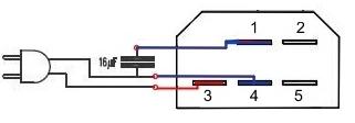 Podłączenie silnika SOLE z pralki Whirlpool do 230V (szlifierka) 5 kabli