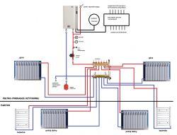 Czy taki układ instalacji C.O. z piecem elektrycznym może być zastosowany
