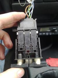 Obieg wewnętrzny nawiewów przy przełączniku NORM / MAX Golf III 92 r.