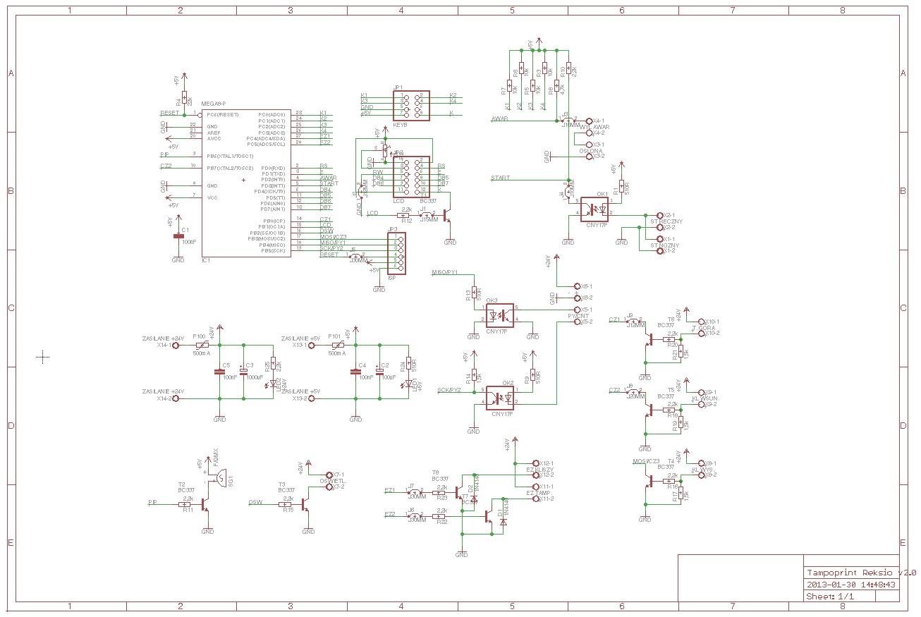 ATmega8 Bascom - Sterownik tampoprintu wy�wietlanie na LCD