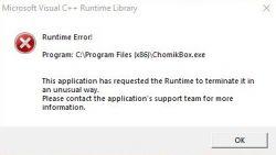 Problem z ChomikBox - Microsoft Visual C++ Runtime Library