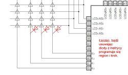 Procesor/controller NEC PD1723 w radiu Infinity, nie potrafię zmienić kroku synt