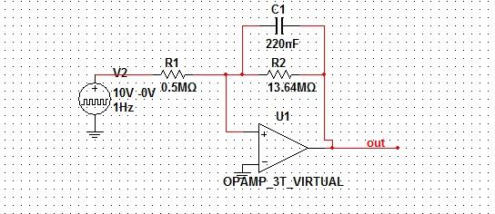 Filtr dolnoprzepustowy aktywny na 3 sek