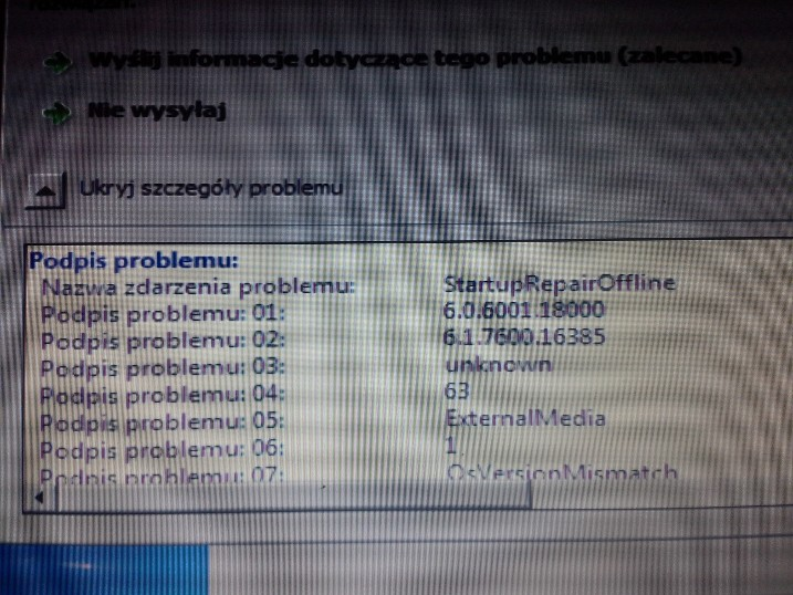 Lenovo G530 - Windows 7 nie chce si� uruchomi�