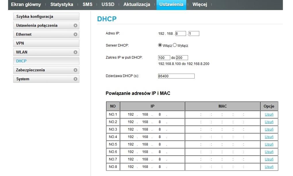 Jak przypisać IP na sztywno w routerze B529s-23a - elektroda pl
