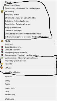 Niepotrzebne opcje Windows 7