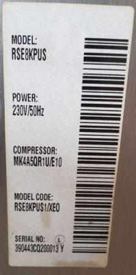 Lodówka Samsung Side By Sde RSE8KPUS - zaburzenia po wymianie sprężarki
