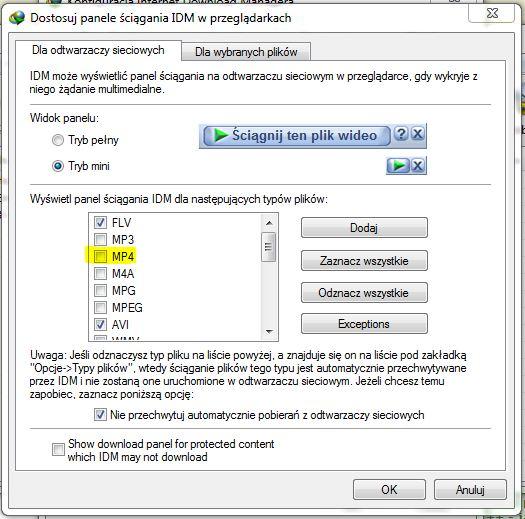 Internet Download Manager - Jak w IDM wy��czy� �ci�ganie z pewnej strony?