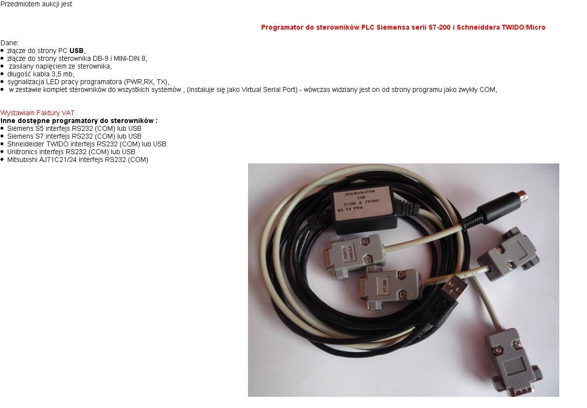 Jaki Kabel Do Sterownika Twido Plc Wiring Diagram