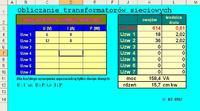 Poprawność obliczeń uzwojeń transformatora.