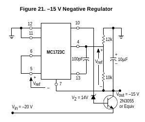 Zasilacz napięcia ujemnego -24 na lm723 (potrzebny schemat)