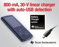 Pierwszy na rynku liniowy układ ładowania akumulatorów 800mA