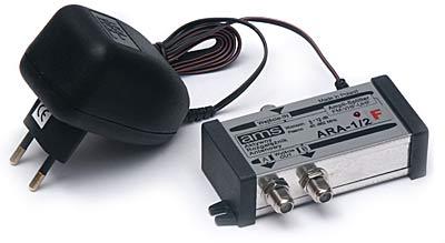 Sprzęt do podziału sygnału anteny na dwa odbiorniki tv