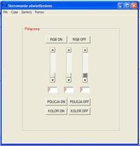Sterownik oświetlenia - Sterownik diod RGB