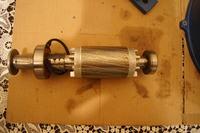 Silnik 3f 0,4kW - połączenie uzwojeń w gwiazdę - przeróbka na trójkąt